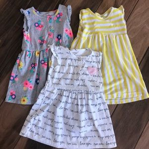 Carters 24 month bundle of 3 dresses